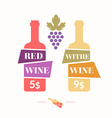 wine sticker vector image vector image