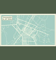 yamoussoukro ivory coast city map in retro style vector image vector image