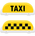 Yellow taxi sign seet vector image