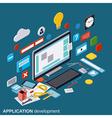 Application development concept vector image