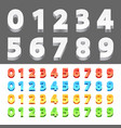 color 3d numbers vector image