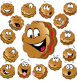 sweet christmas cookies with funny faces vector image