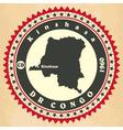 Vintage label-sticker cards of Democratic Republic vector image