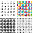 100 online shopping icons set variant vector image