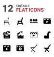 12 director icons vector image vector image