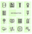 14 information icons vector image vector image
