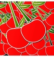 Background from cherries with an arrow by organic vector image