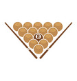 balls and cues in triangle vector image vector image