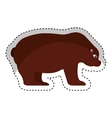 bear economy symbol isolated icon vector image vector image