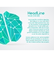 Brainstorm brain creation and idea poster vector image