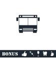 bus icon flat vector image vector image