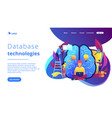 business intelligence concept landing page vector image vector image