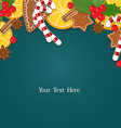 Christmas background with blank space for text vector image