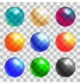 Color balls set vector image vector image
