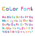 color font vector image vector image