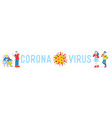 coronavirus concept people with mers-cov symptoms vector image