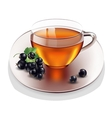 Cup of tea with currant vector image vector image