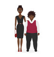 cute african american pair fat boy and slim vector image vector image
