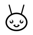cute little bee insect head vector image