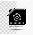 design app logo application design glyph icon on vector image vector image
