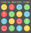 device outline icons vector image vector image