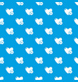 dislike pattern seamless blue vector image vector image