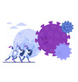 doctors knights protect earth from coronavirus vector image vector image