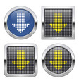 dotted icon downward direction arrow on glossy vector image vector image