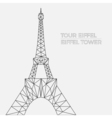 Eiffel tower in polygonal style vector image vector image