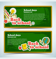 elementary school horizontal banners vector image vector image