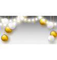 garland and golden christmas balls vector image