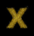 gold dust font type letter x vector image