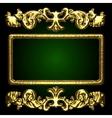 golden decor vector image