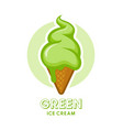 green ice cream icon vector image