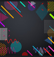 grey background with abstract colorful pattern vector image vector image