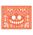 halloween papel picado design with skulls vector image vector image