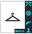 hanger icon flat vector image