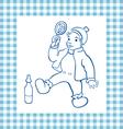 Happy baby vector image vector image