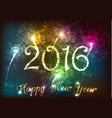 happy new year 2016 with colourful firework vector image