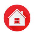 home red icon symbol of residential house vector image