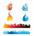 Icon Red and Blue Fire Flame vector image vector image