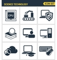 Icons set premium quality of data science vector image