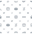 isometric icons pattern seamless white background vector image vector image