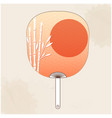 japanese fan bamboo sunset painting image vector image