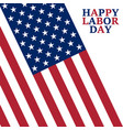 labor day holiday in the united state vector image