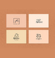 layout business card with logo for art vector image vector image