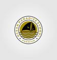 line art sailing yacht minimalist logo symbol vector image vector image