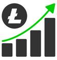 litecoin growing trend flat icon vector image vector image