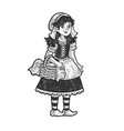 little red riding hood sketch vector image vector image