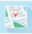 Map with Location Mark Flat Icon vector image vector image